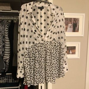 Lane Bryant Polka Dot top